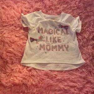 Carter's baby girl shirt sleeve top
